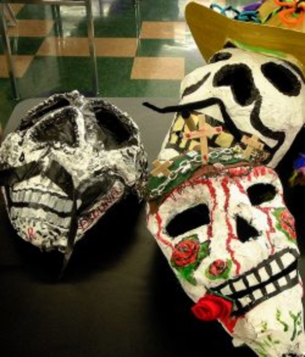 Finished Paper Mache Masks