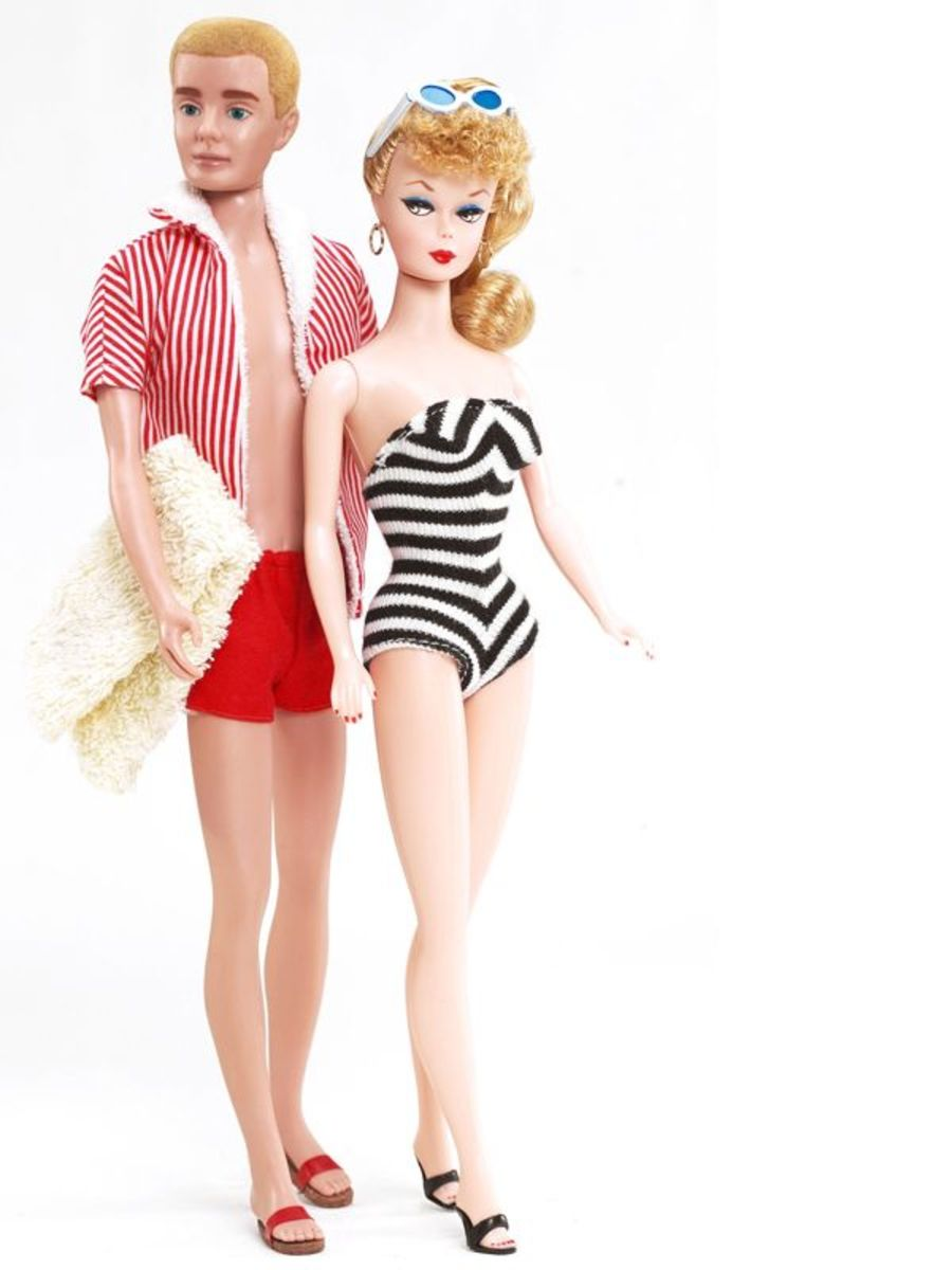 Barbie and Ken in 1961