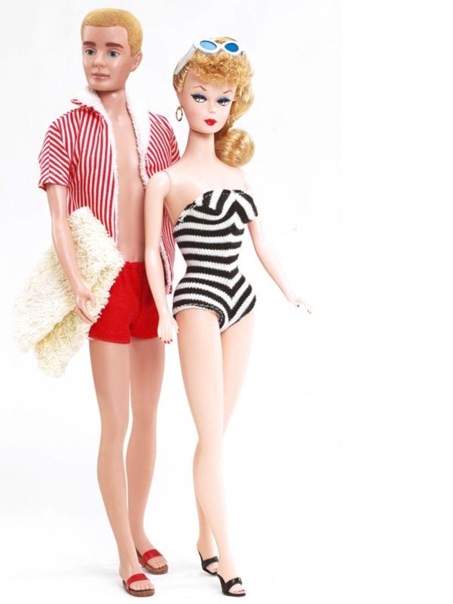 Barbie and Ken in 1961
