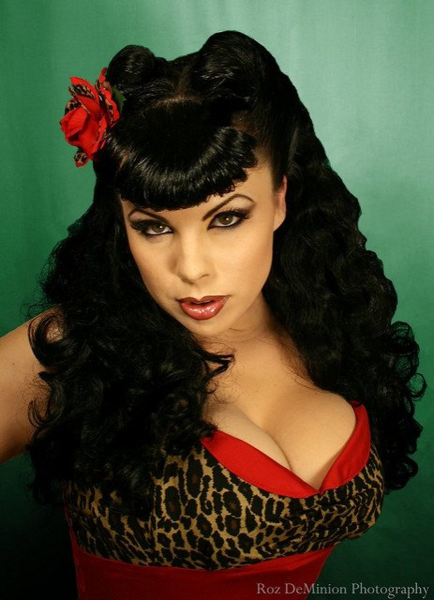 Rockabilly Pin-up Hairstyles for Women How-Tos, Part 2