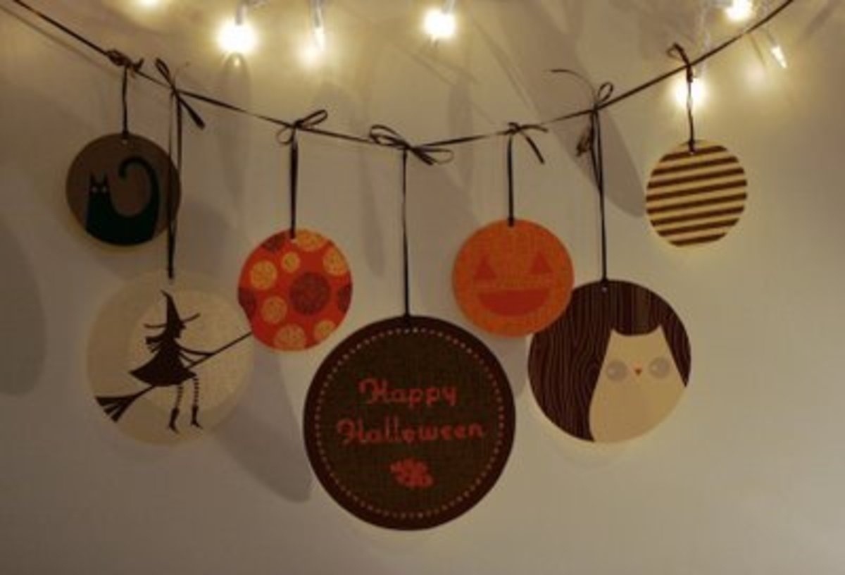 free printable Halloween garland