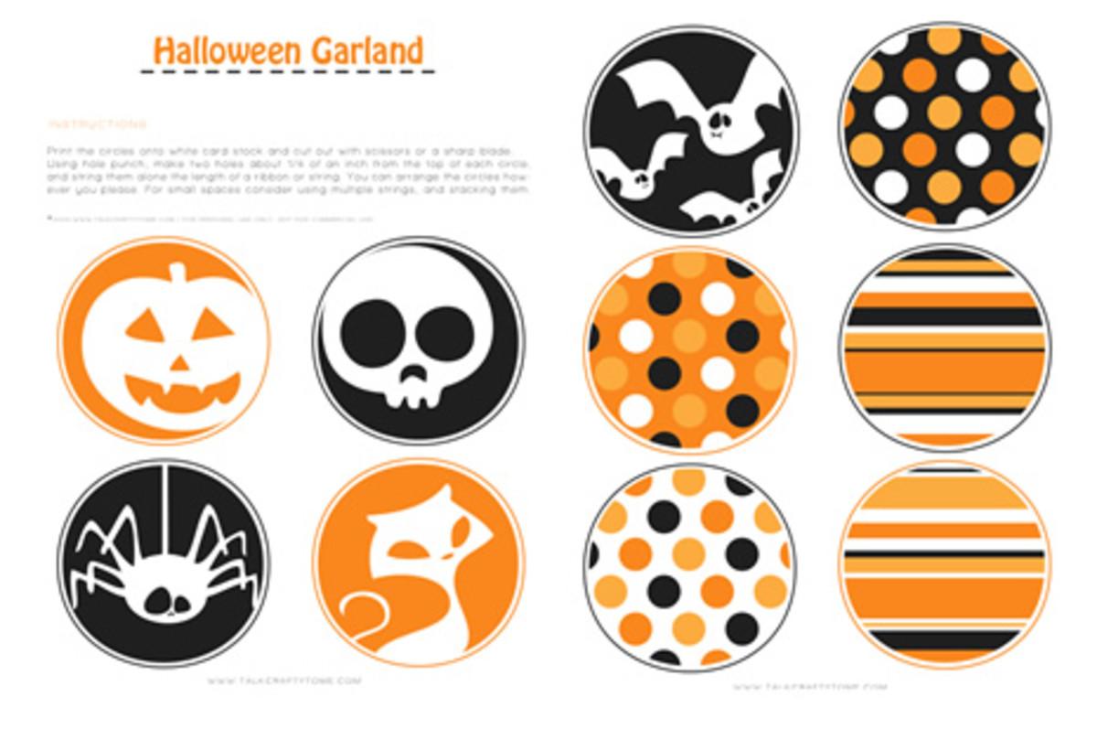 free printable Halloween garland