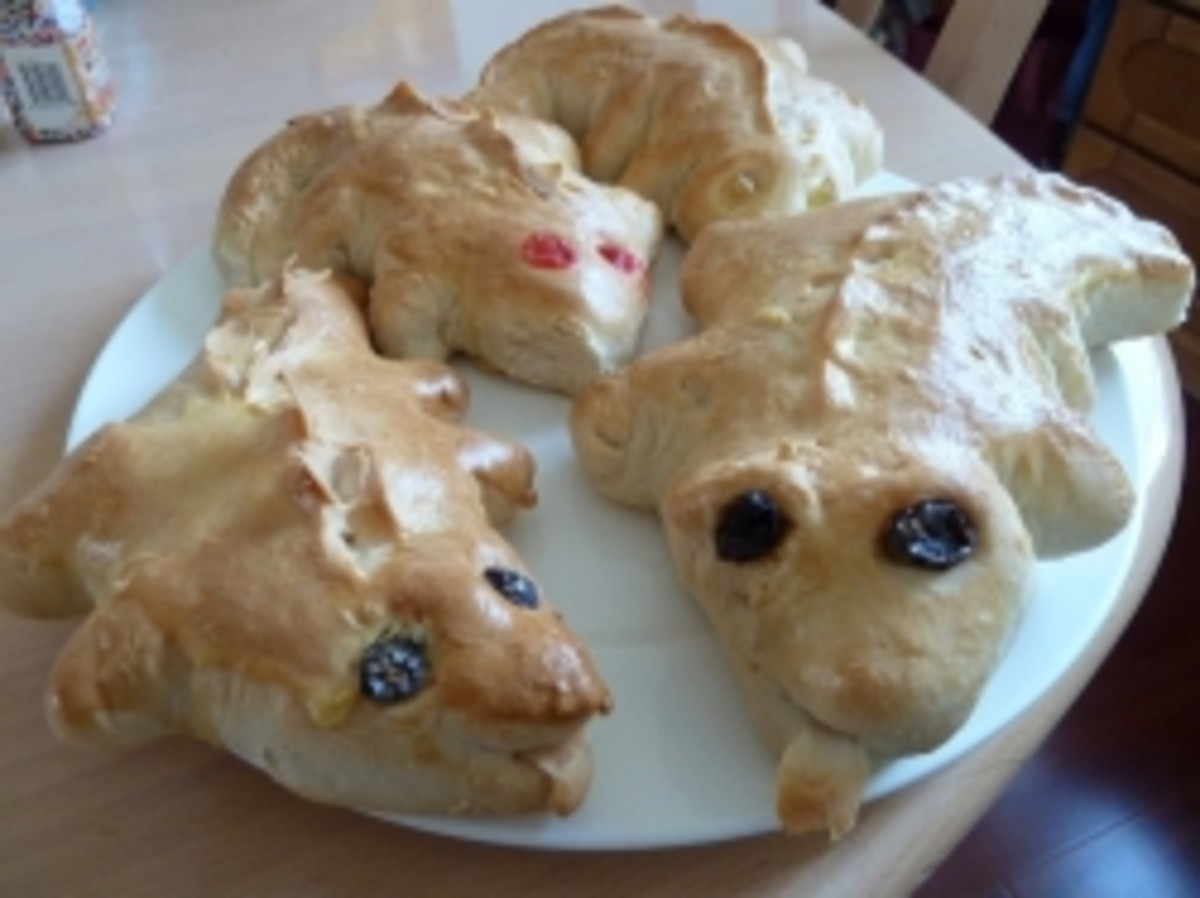 Dragon biscuits fresh from the oven