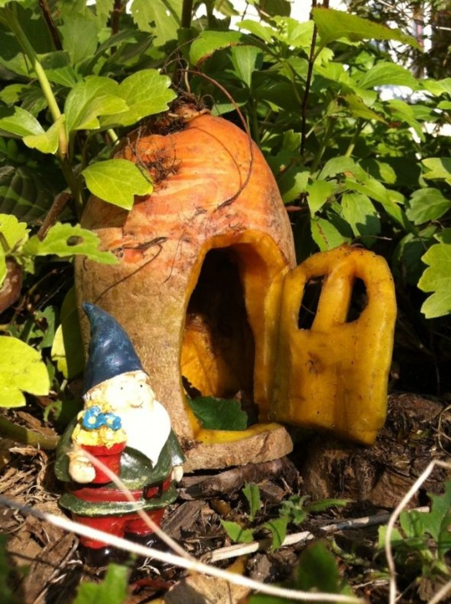 vegetable craft - vegetable carving gnome house