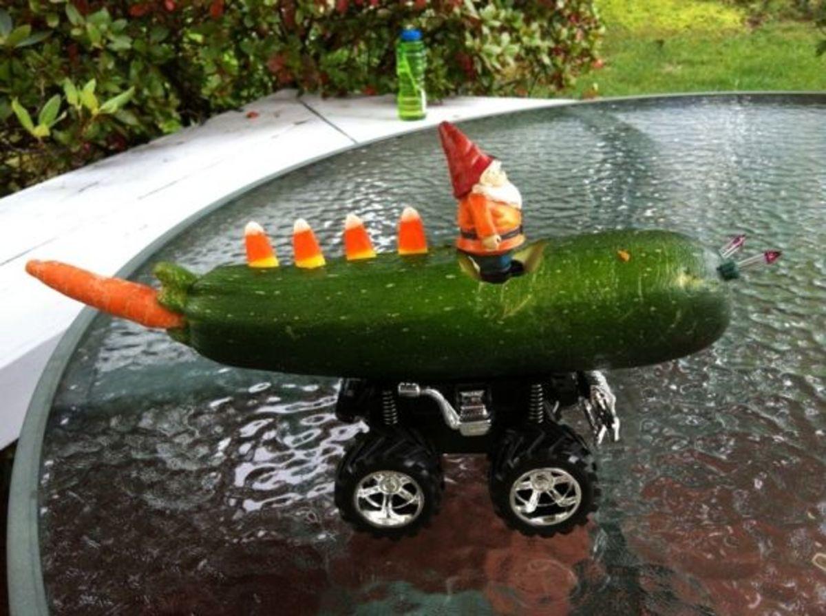 zucchini racing car