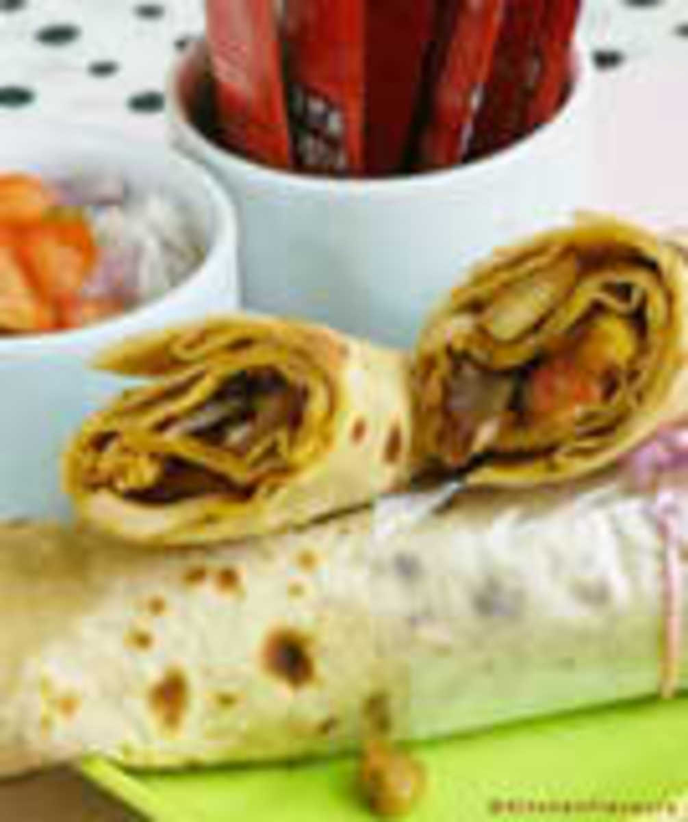 You can use left-over chicken and stuff with salad.  Smear the jam on warn wraps before filling with chicken, mayo, salad and grated cheese.