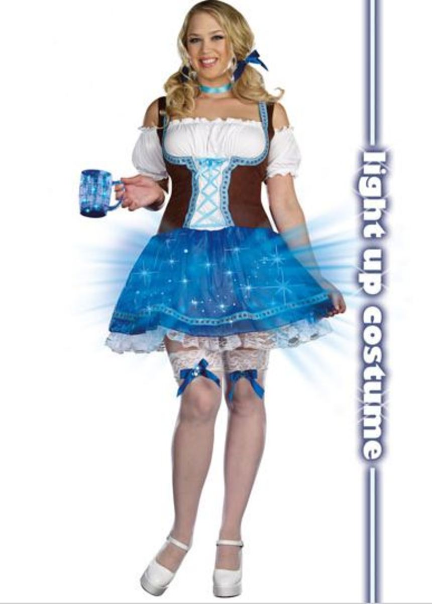 innovative Heidi Go Lightly plus Size Costume with light up skirt