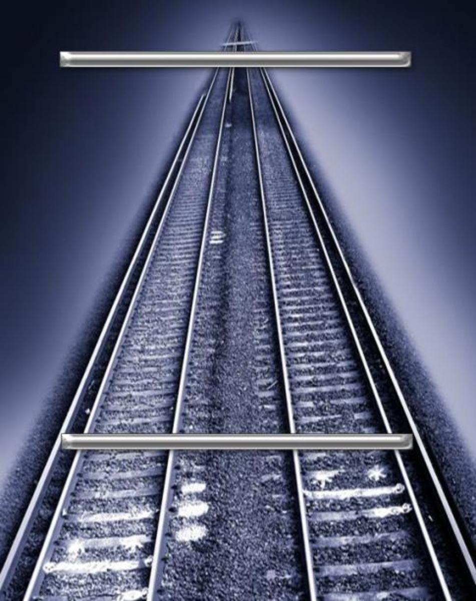train tracks optical illusion