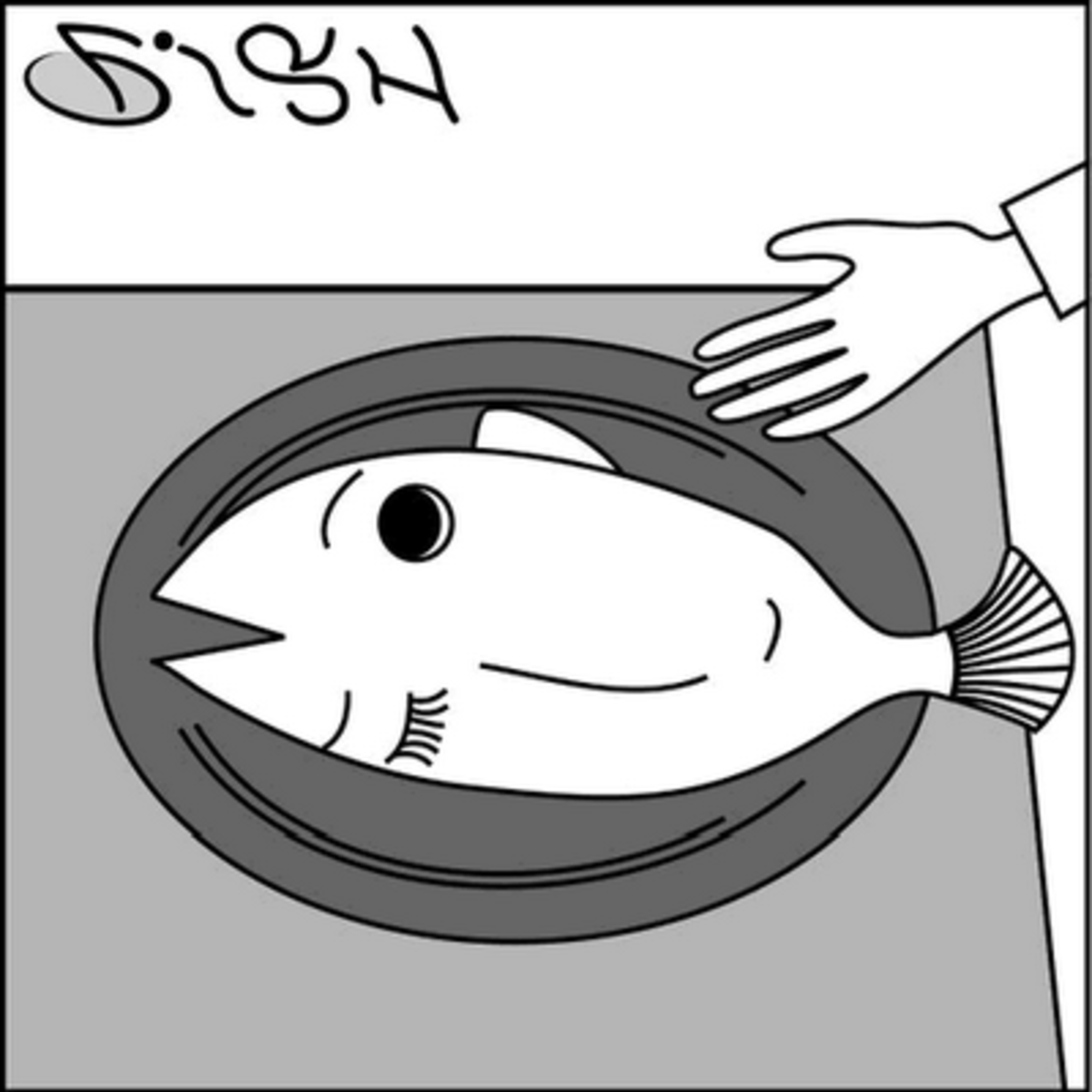 fish or girl optical illusion