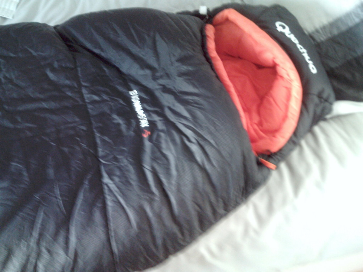 Closer inspection of the Bionnassay Sleeping bag
