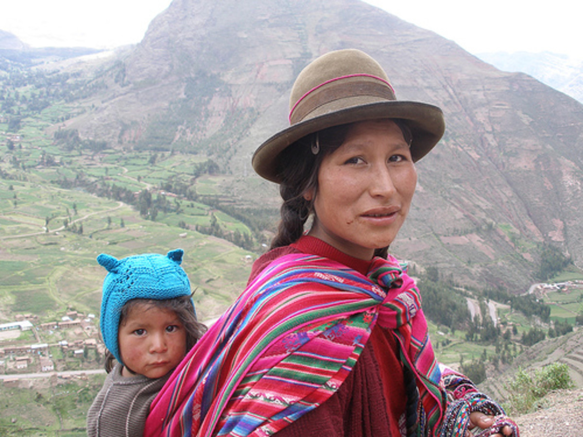Traditional Quechua people of the Andes