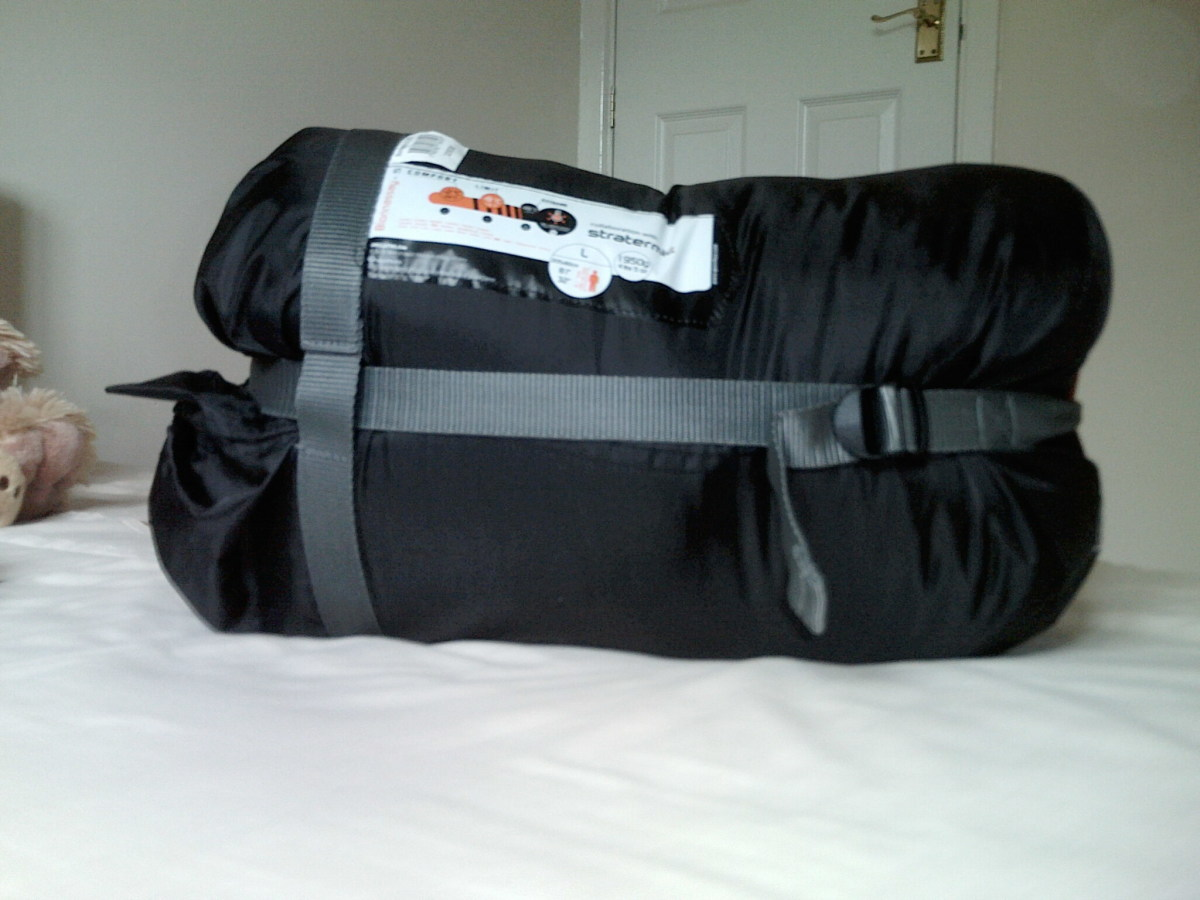 Quechia Bionnassay Sleeping bag in it's Compression sack