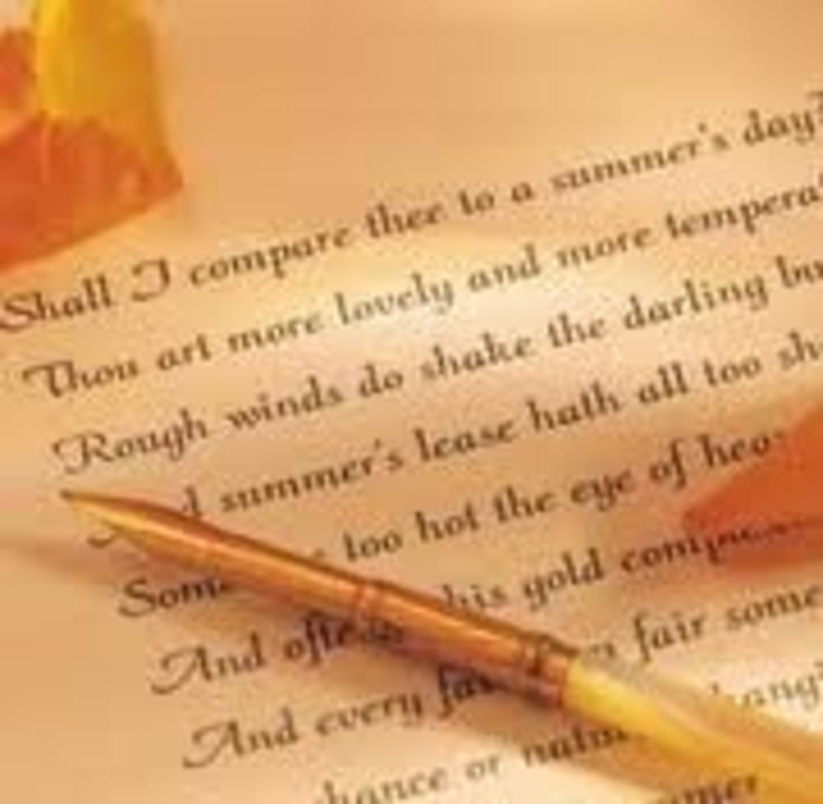 Shakespeare's Sonnet 18.  Iambic pentameter first appeared in Chaucer's Canterbury Tales in late 14th century.
