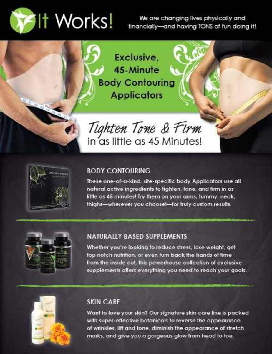 A flyer from It Works!  Click on the image to enlarge and read!
