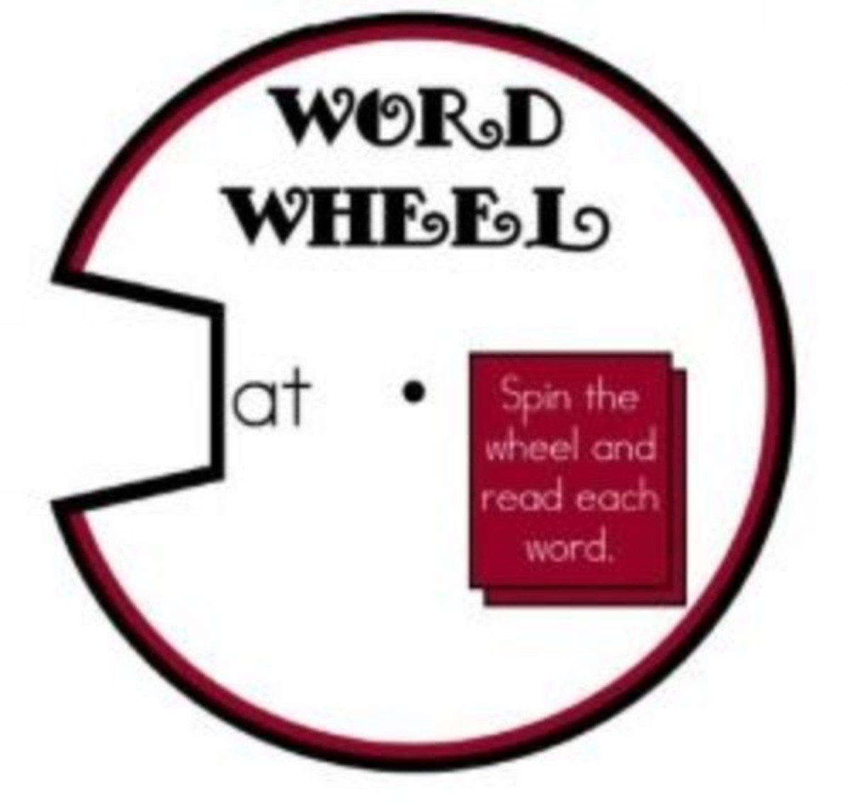 Teaching word families with word wheels