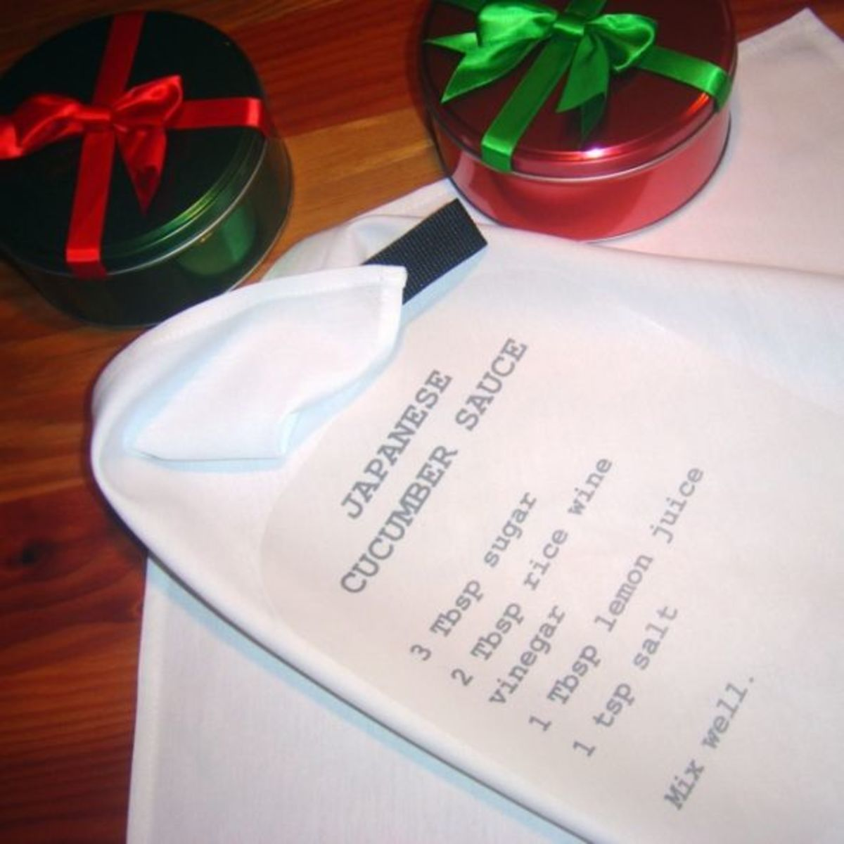 DIY Gifts - Recipe Dinner Napkin