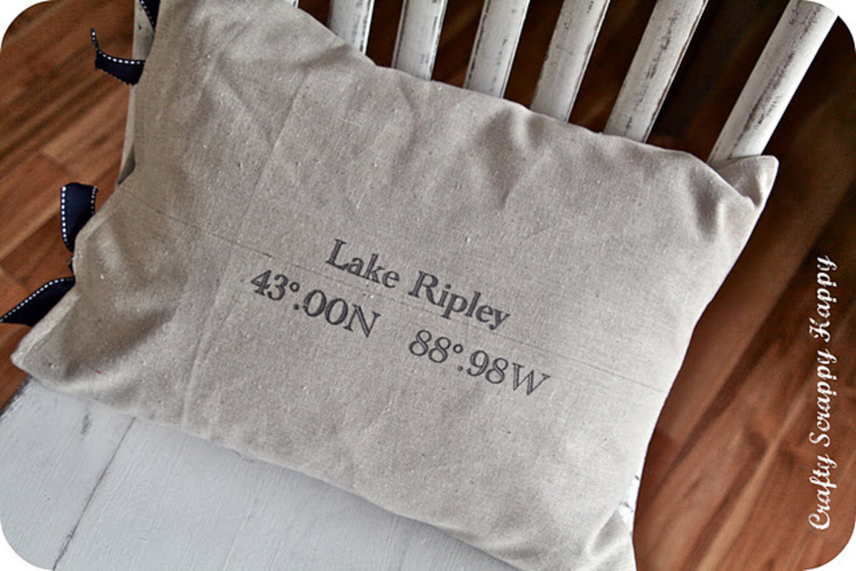 DIY Christmas Gifts - Latitude Longitude Pillows