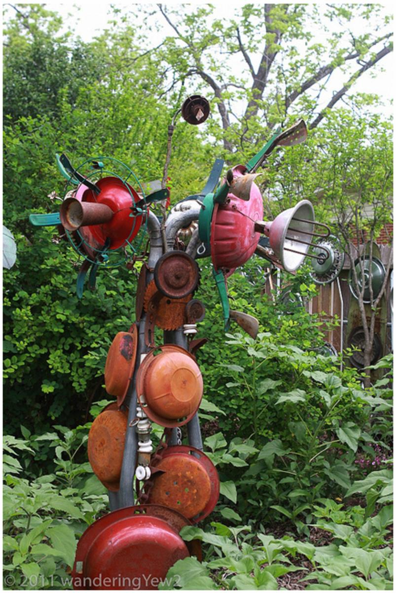 DIY Garden Crafts Outdoor Decoration Ideas Tutorial Roundup