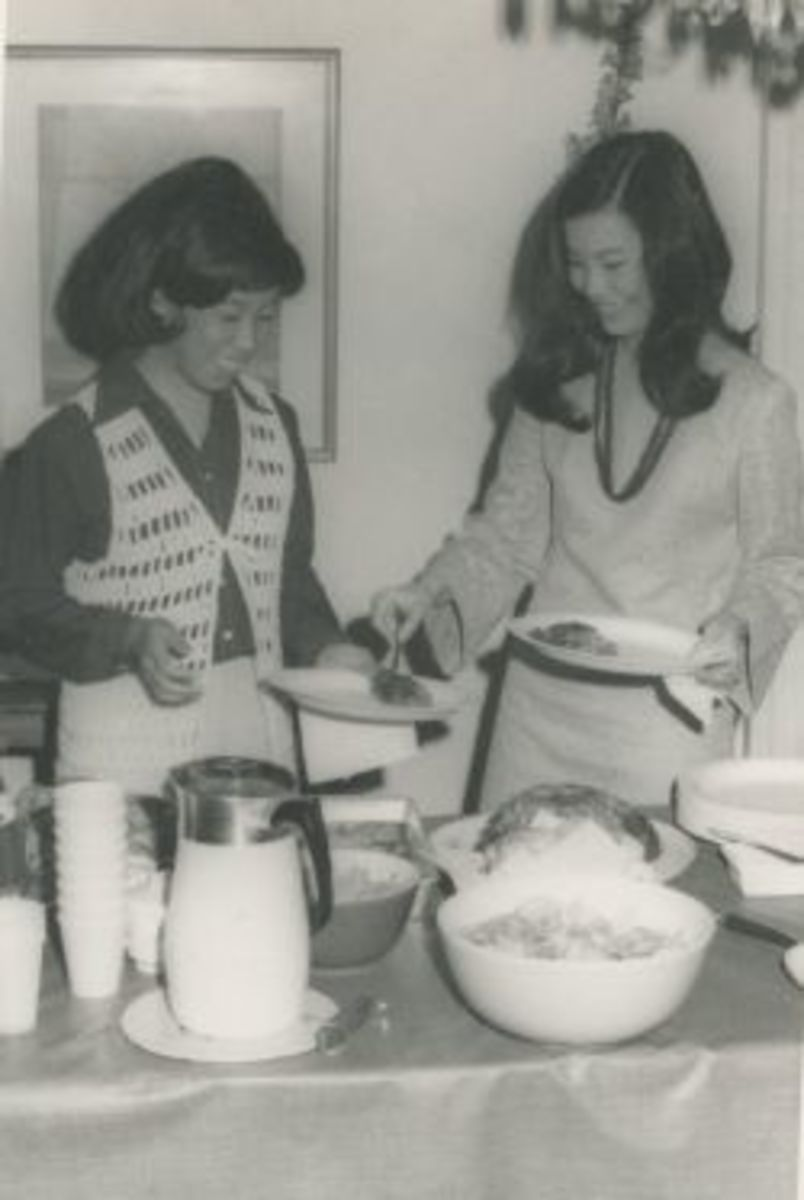 Part of a typical gathering in our home around 1969