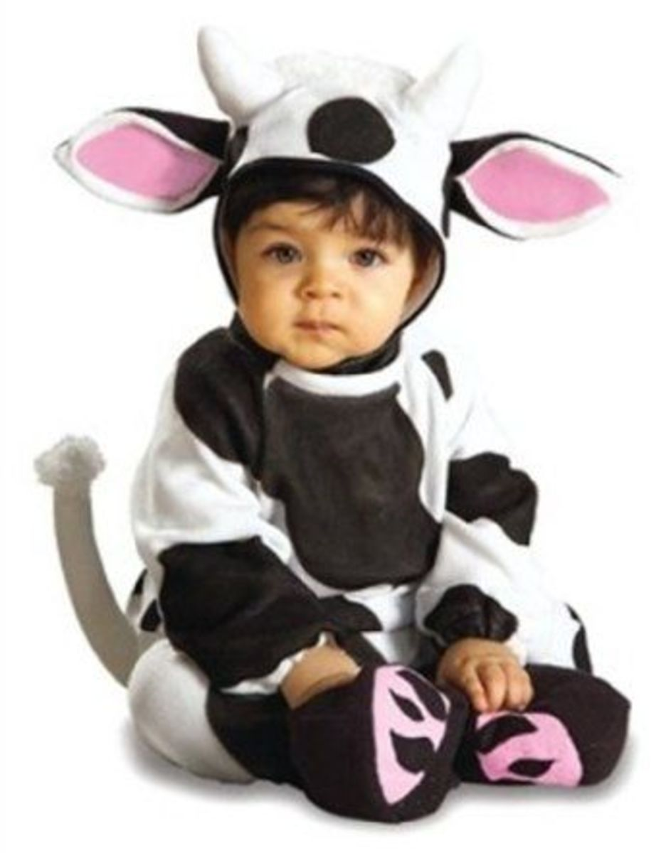 EZ-On Cow Romper Costume