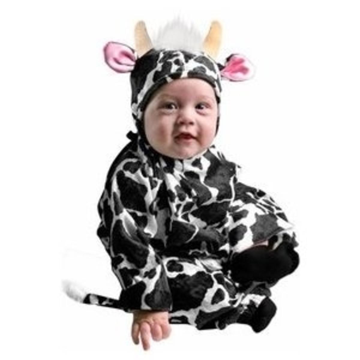 Infant Farm Animal Baby Cow Halloween Costume (6-18 Months)