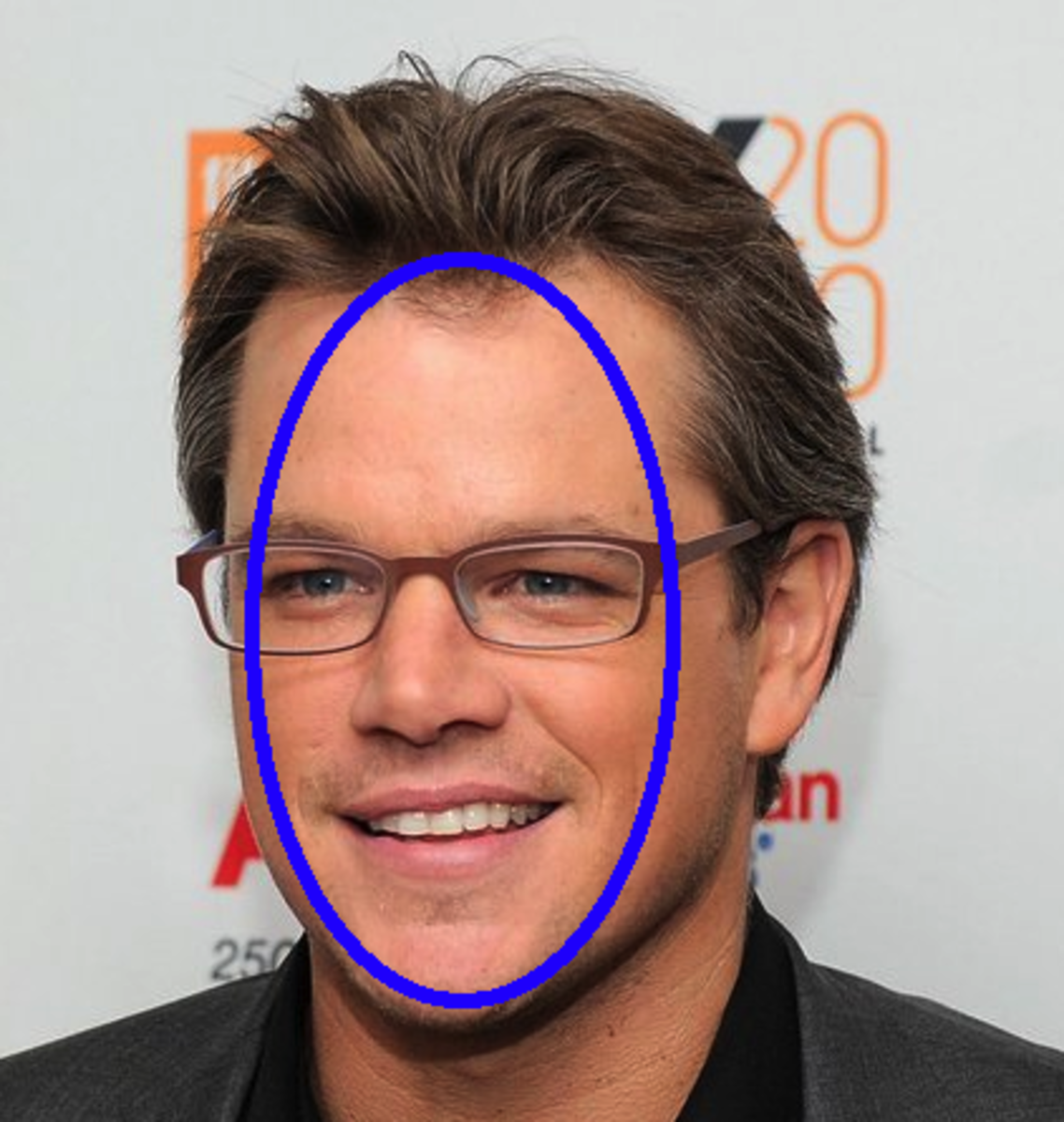 Oval-faced Matt Damon can look good in anything