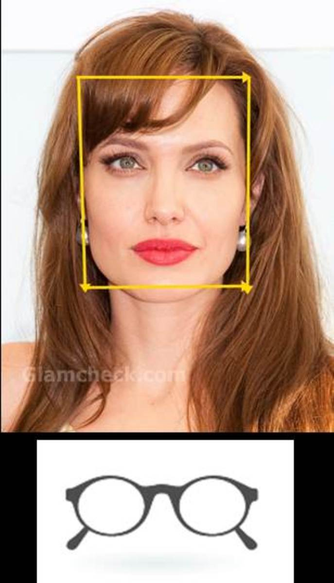 The square- faced Angelina Jolie
