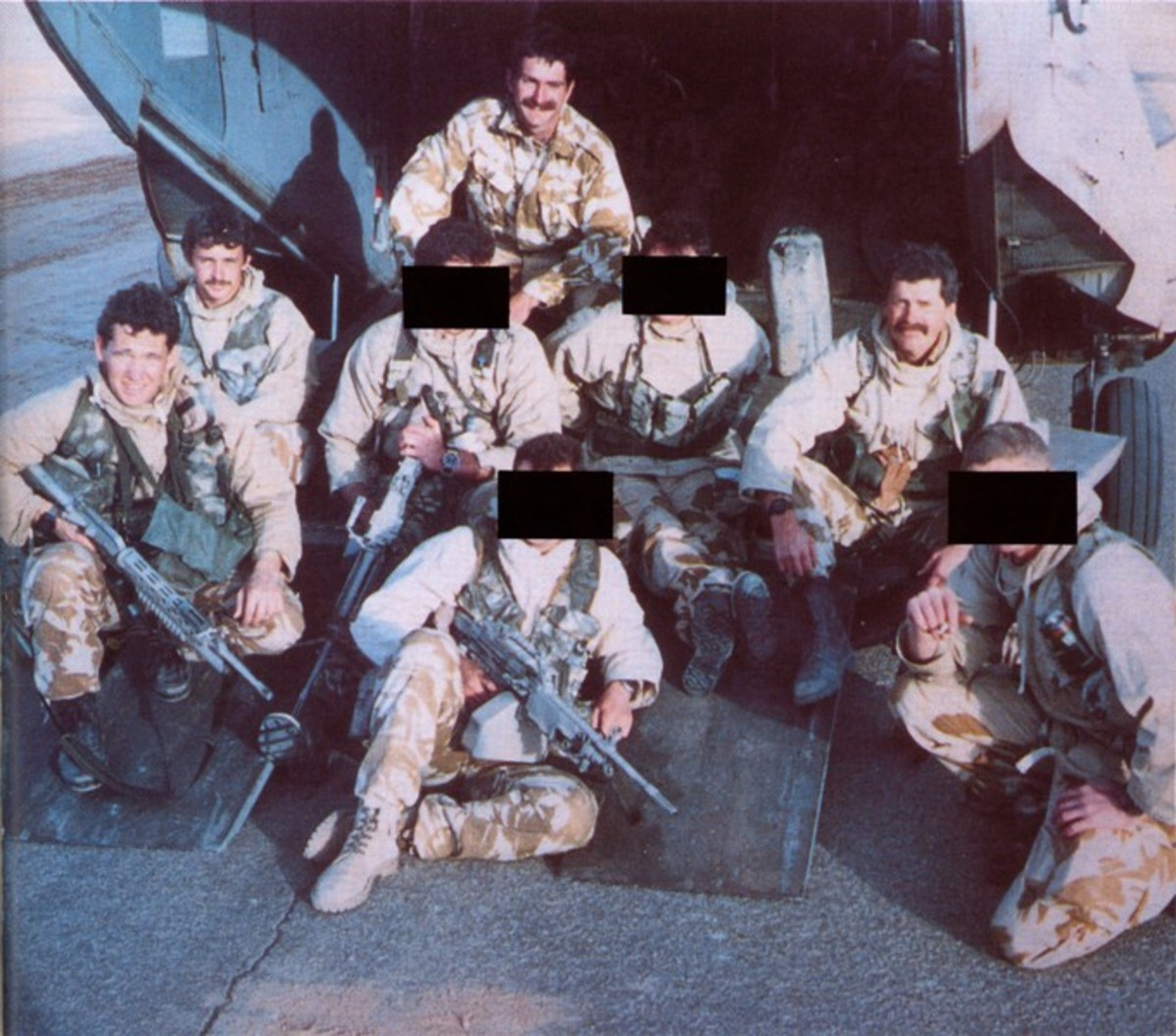 The actual Bravo-two-zero team at the start of their mission
