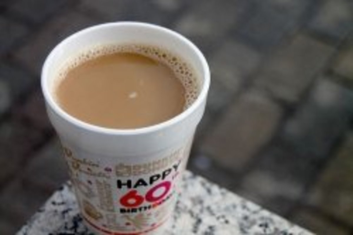 Cup of Dunkin' Donuts coffee