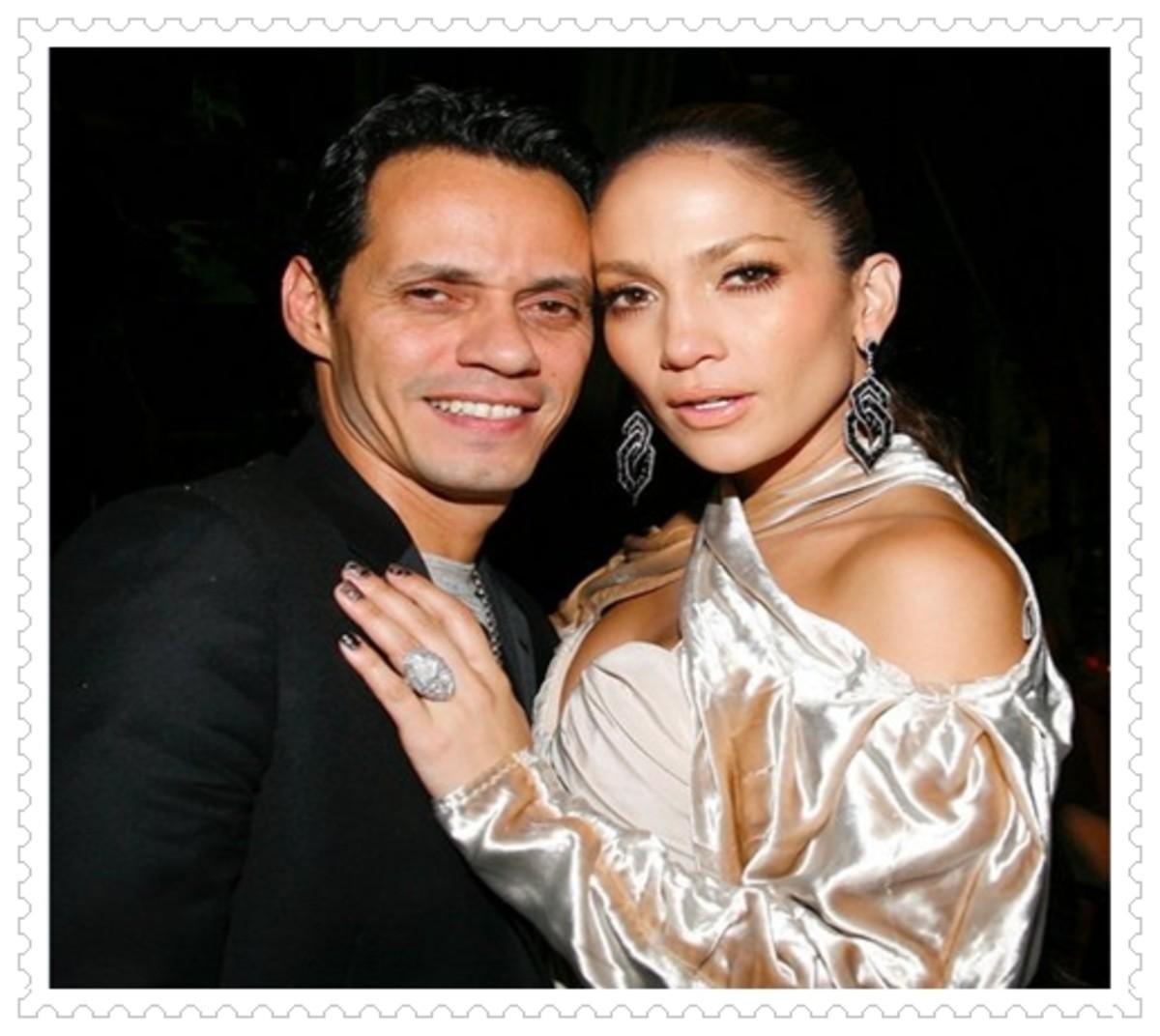 Marc Antony and Jennifer Lopez