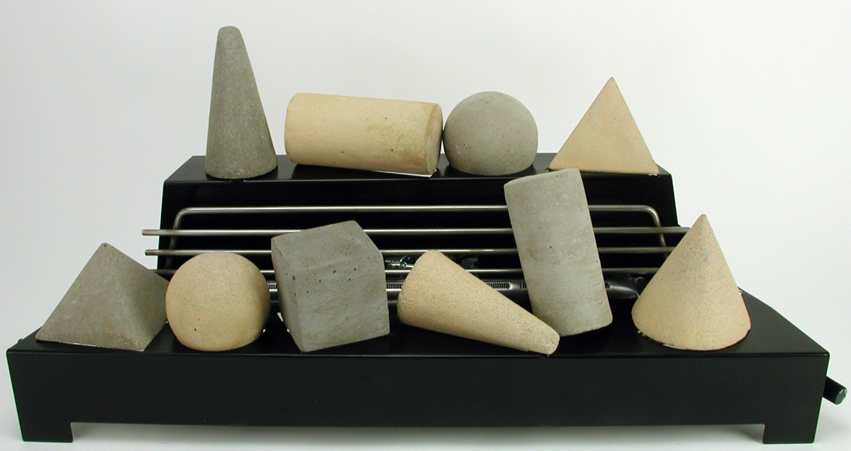 Ventless gas fireplace fire shapes.