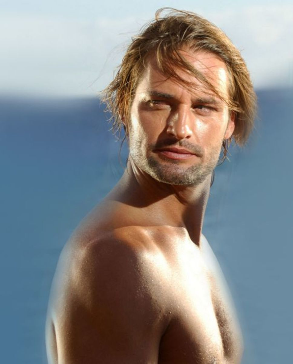 Josh Holloway beach hairstyle.