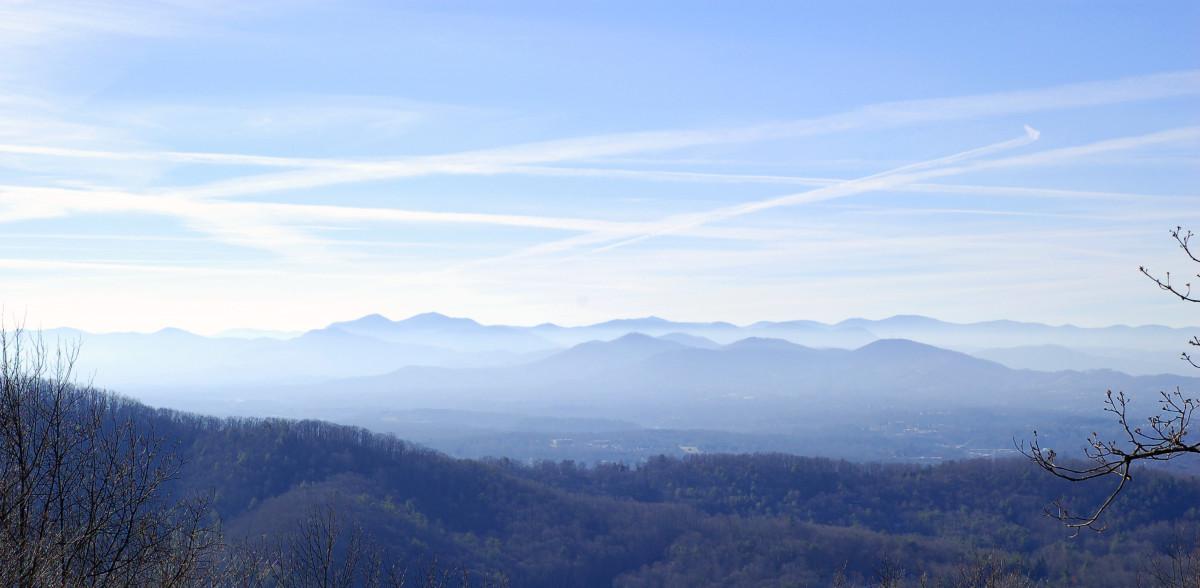 Haze over the Blue Ridge Mountains