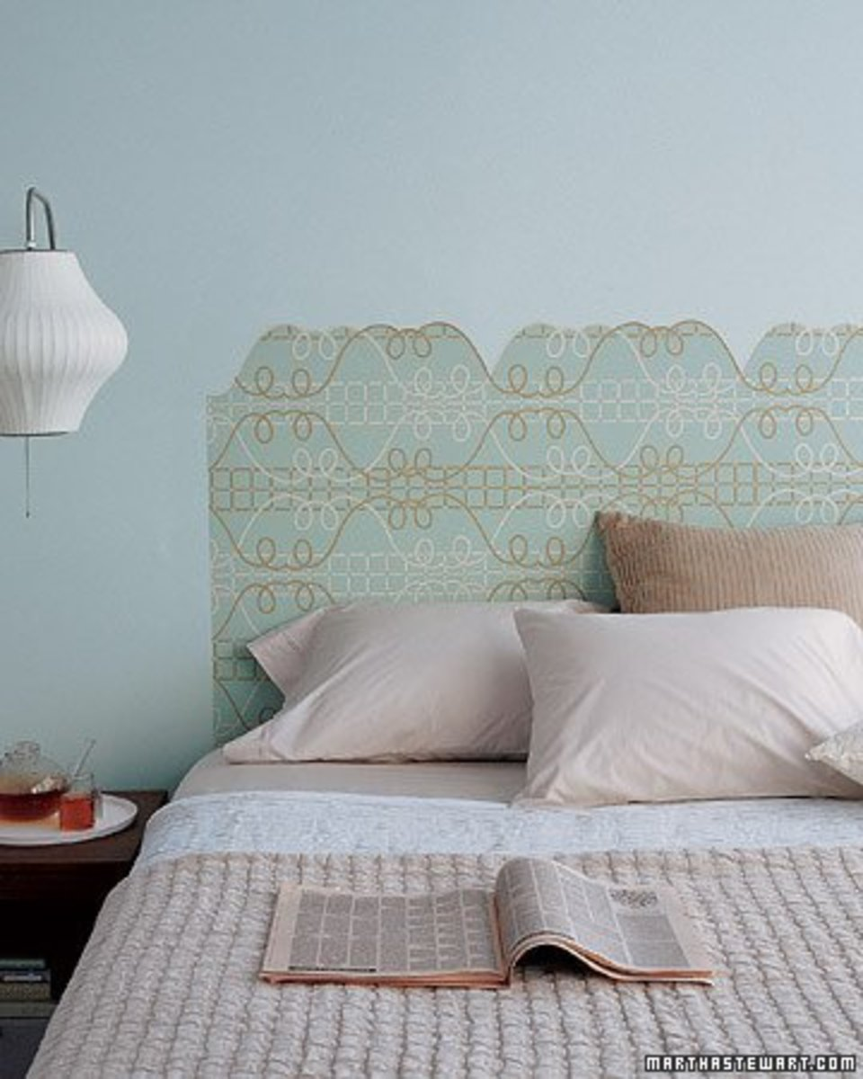 Decorative Wallpaper Headboard