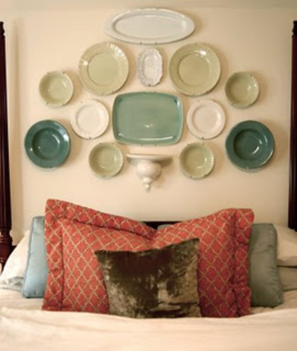 Headboard of Plates