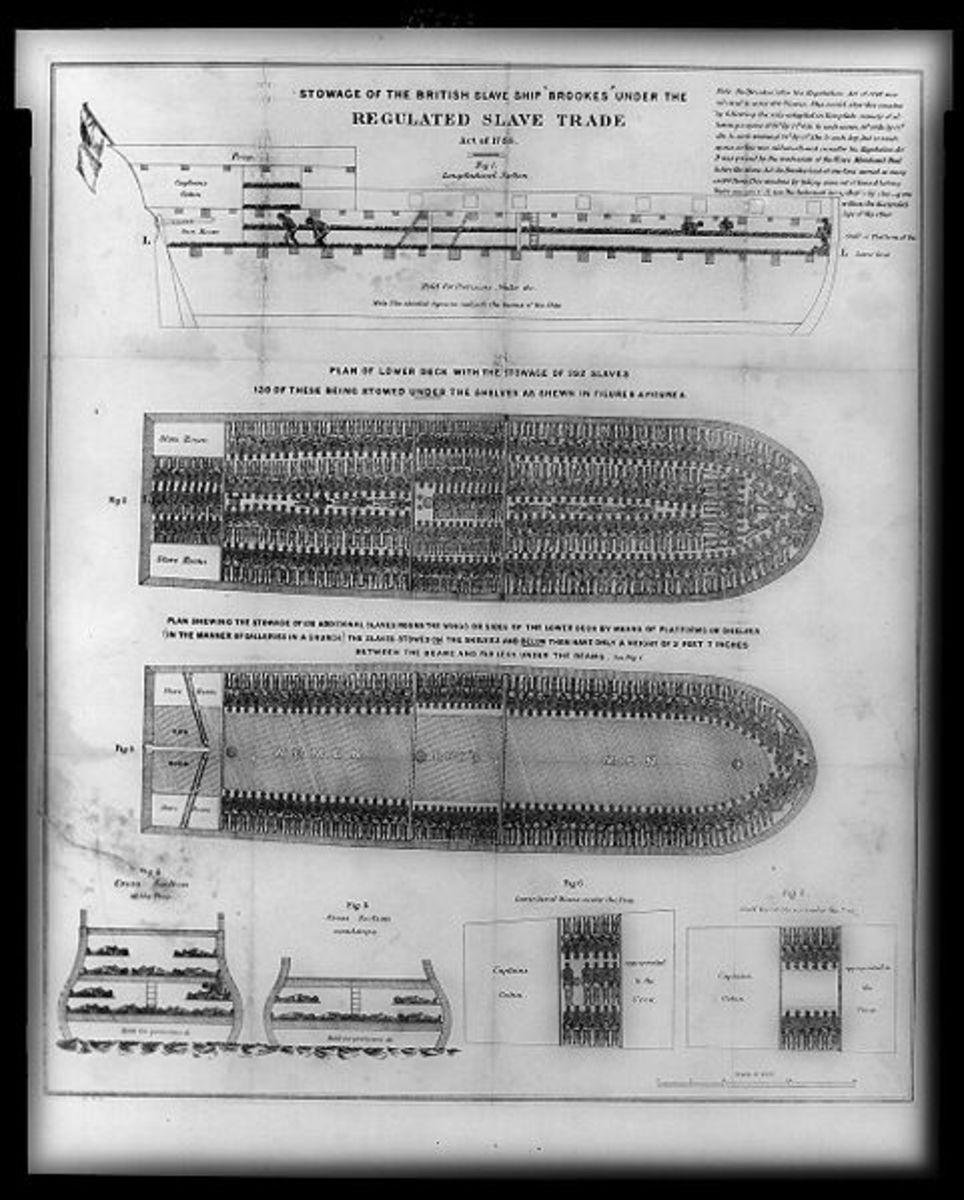 example of a slave ship plan (Brookes slave ship) photo credit: wikipedia.com