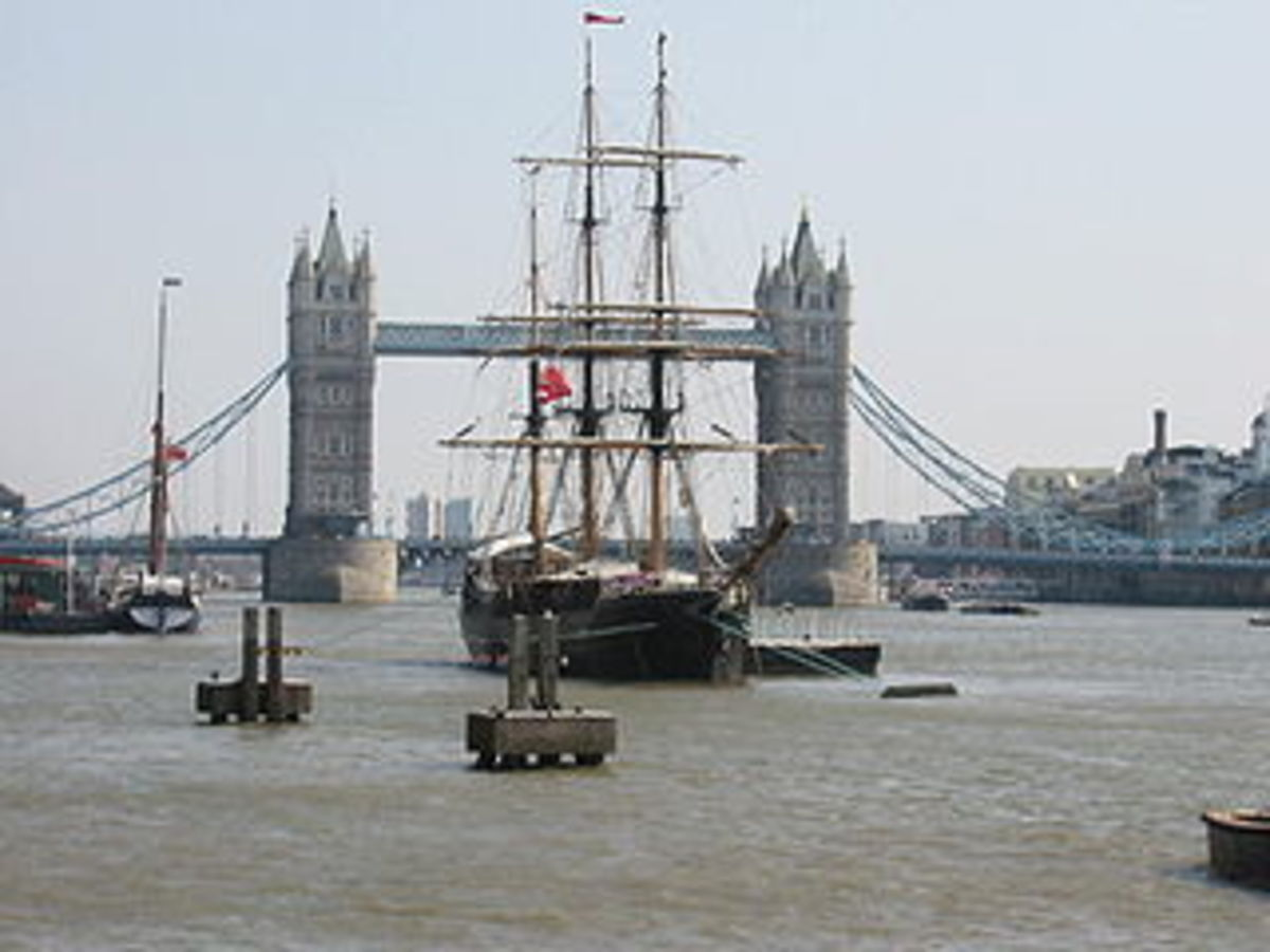 photo credit: wikipedia.com. A replica of Zong at Tower Bridge in London to commemorate the 200th anniversary of abolition in 2007.