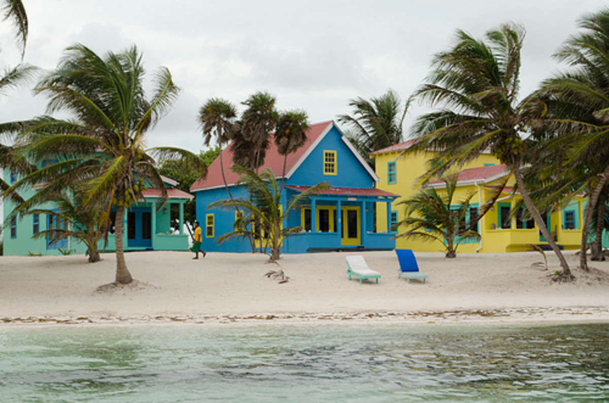 Caribbean medley of colors that make a tropical statement.