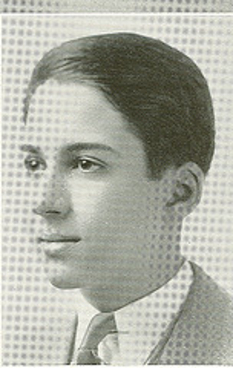 Irving Copi's high school photograph in 1934.
