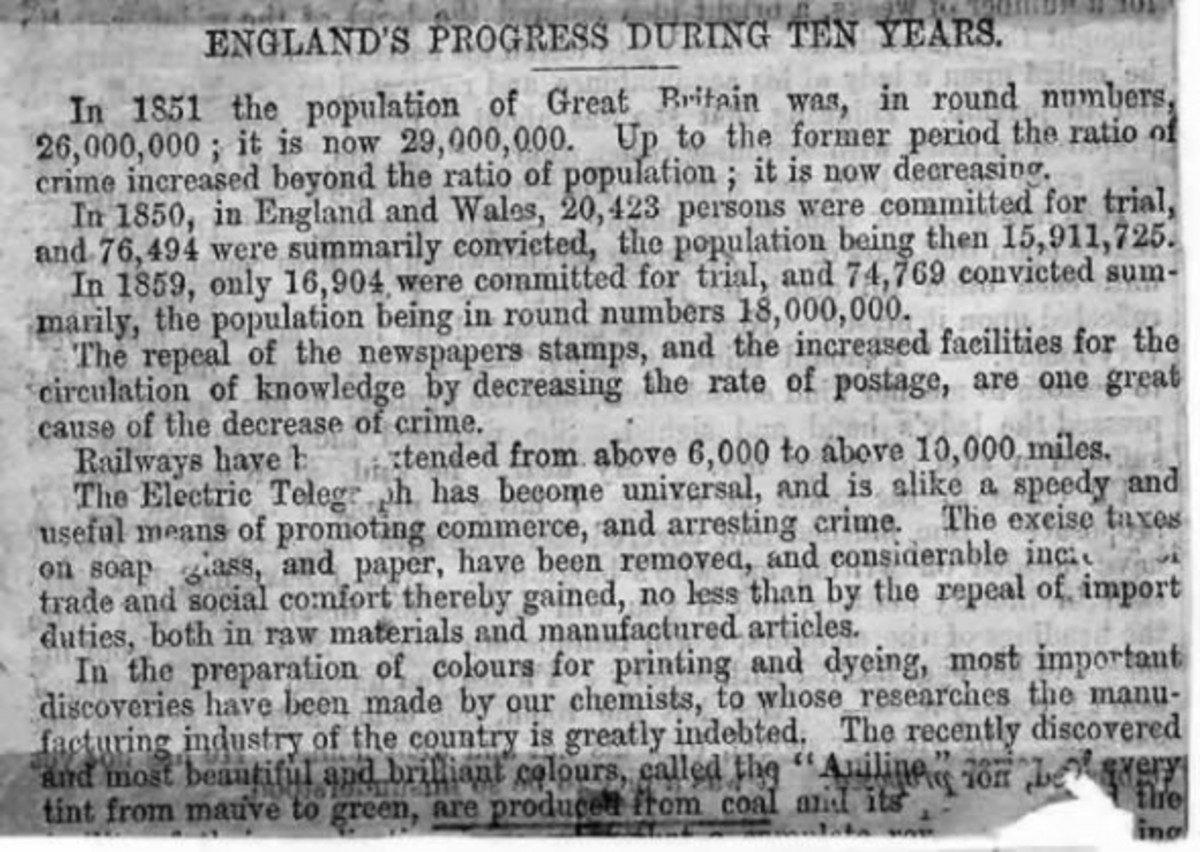 England's Progress during ten years