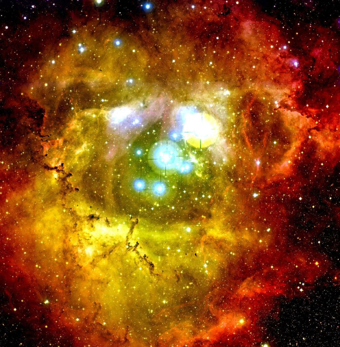 Center of the Rosette Nebula