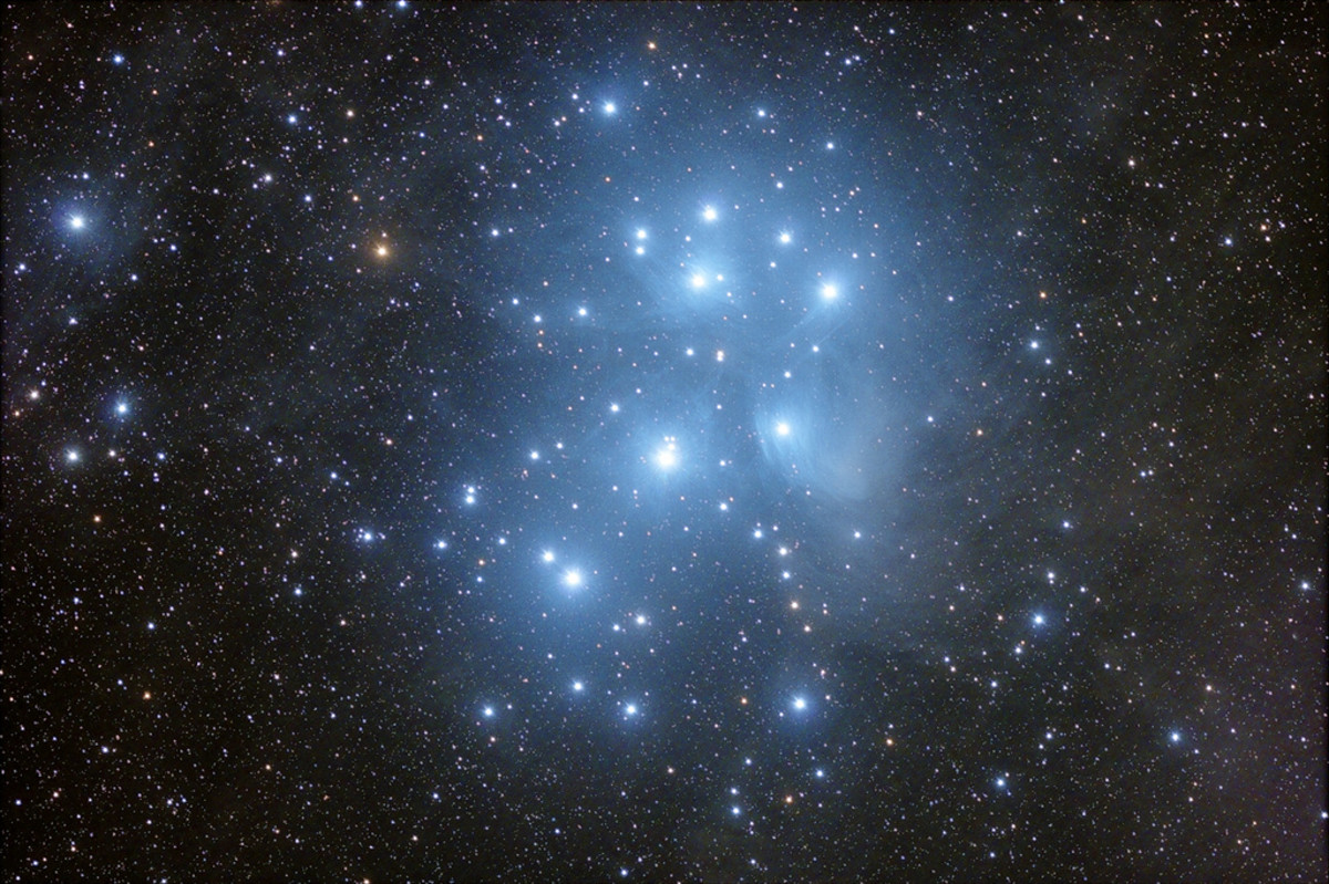 Pleiades Cluster Nebula is an example of a Reflection Nebula.