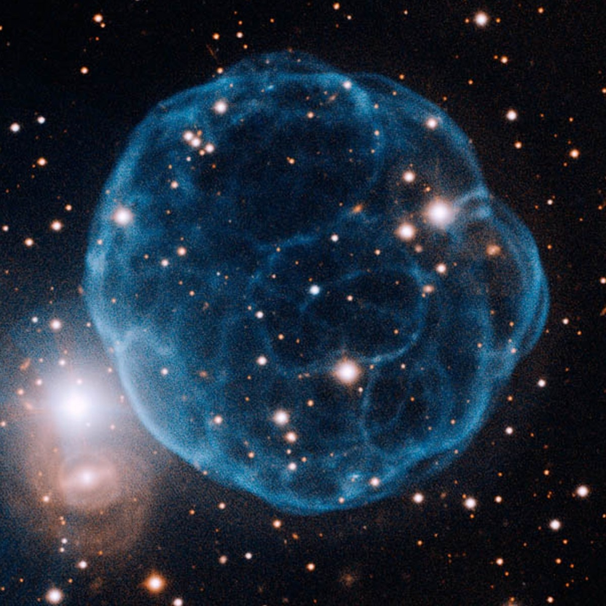 It's easy to see why the Kronberger 61 Nebula is also known as the Soccer Ball.