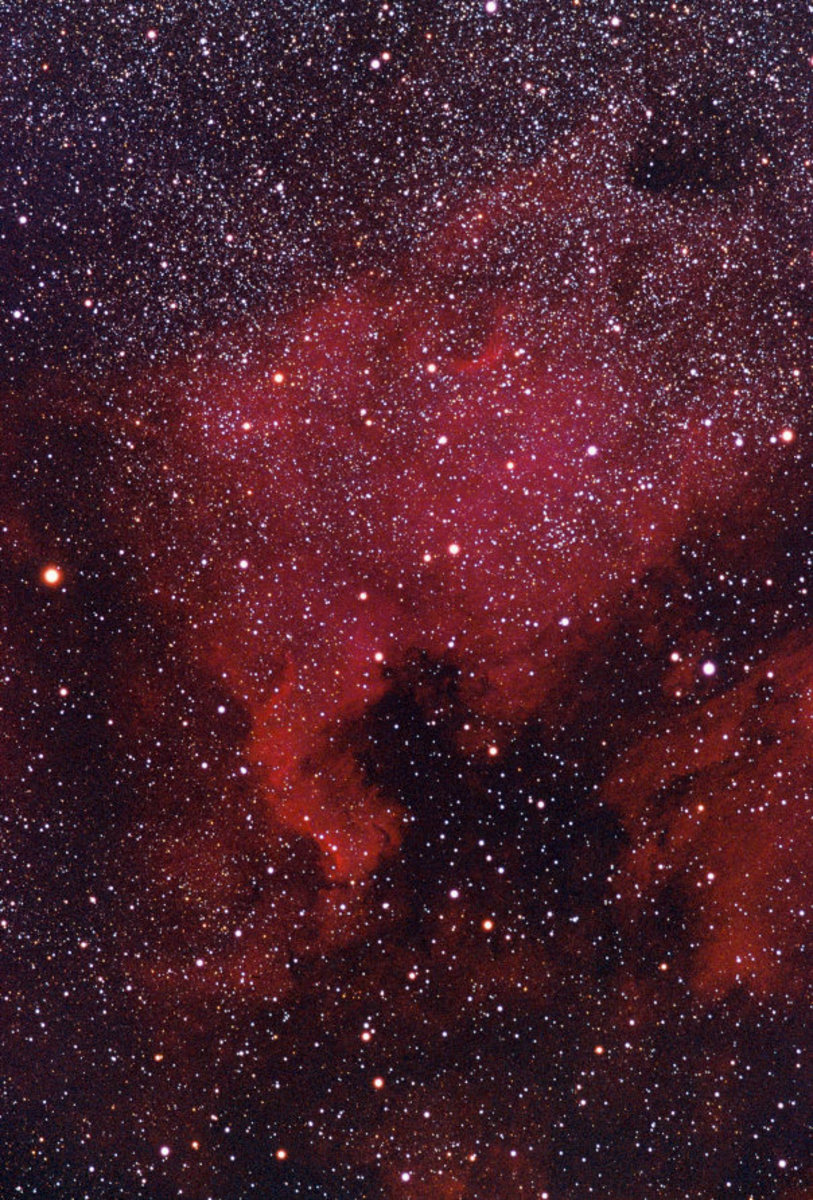 The North American Nebula is an example of an emission nebula.