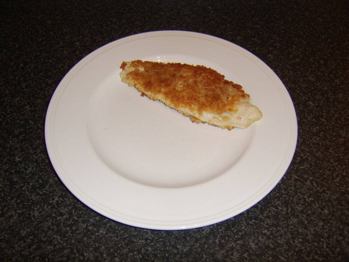 Basa fillet plated and ready for the chips