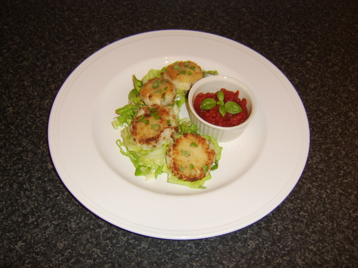 Simple and delicate basa fishcakes and spicy tomato sauce make a great starter or appetizer