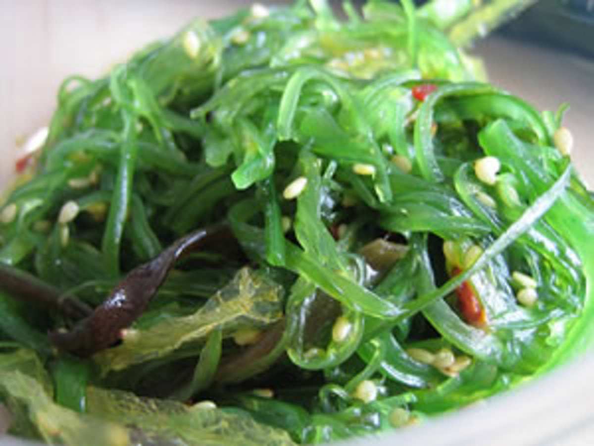 Seaweed. See this article (below) also-- 3 Reasons to Eat Seaweed Now. 1. Nutrient Dense 2. Modern Medicine 3. Ancient Detoxification