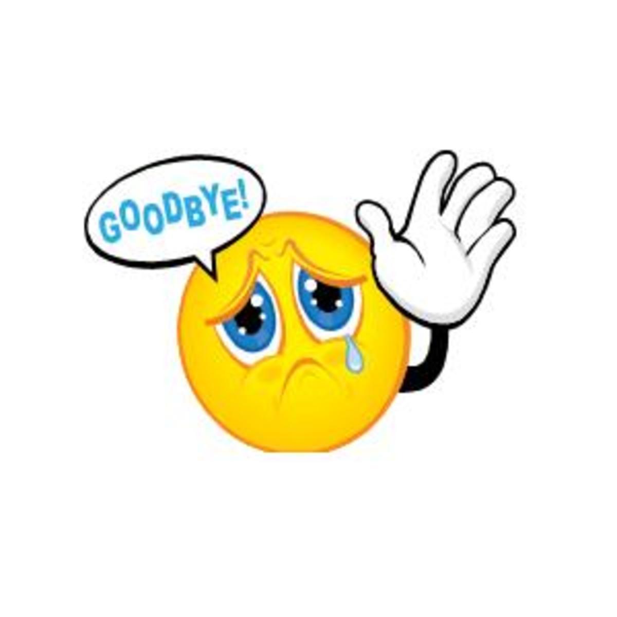 So long farewell goodbye