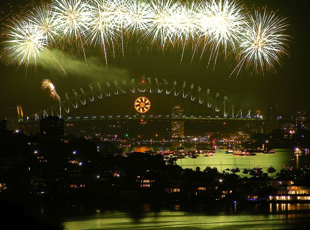 New Year's Eve in Sydney. Australia was photographed by Adam.J.W.C on December 31, 2008.