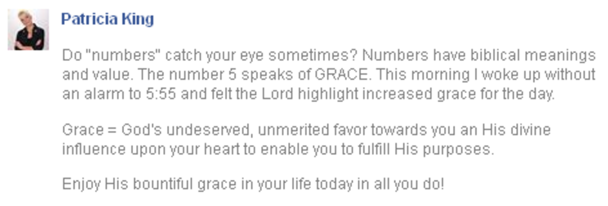 "[One of the NAR ""12 apostles preceding the Second Coming"" says 5:55 means increased Grace for a day. ]"